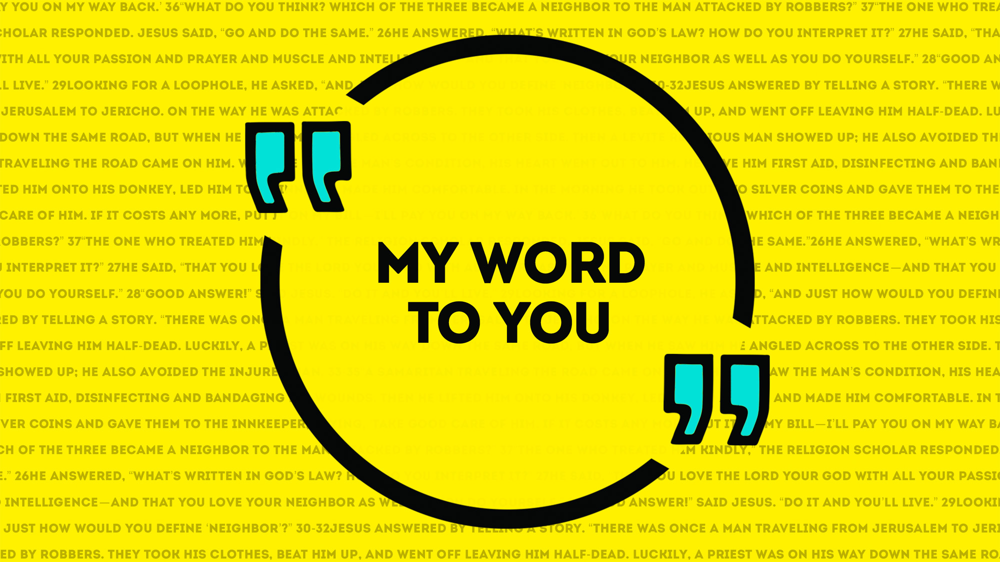 Series: My Word to You